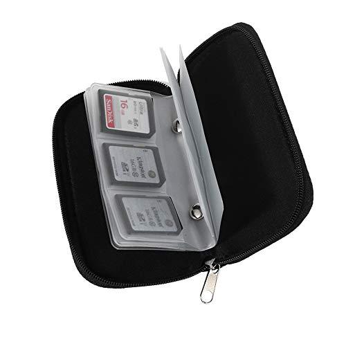 Memory Card Case - Passt bis zu 22x SD, SDHC, Micro SD, Mini SD und 4X CF - Holder mit 22 Ablagefächern - für Lagerung und Reisen Kleine Memory Card Case