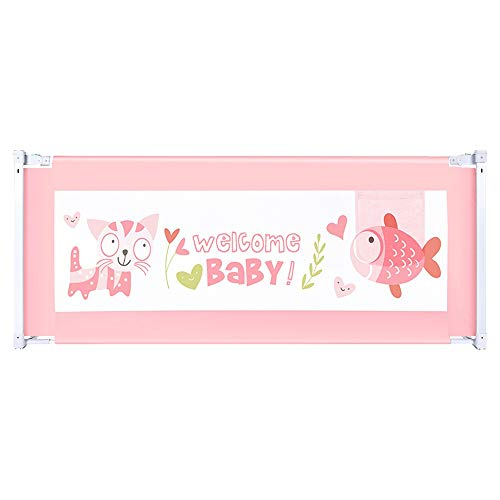 Bettgitter HUO Rausfallschutzklappbares Kinder Bett Schutz Bett Schiene Für Kleinkind Leicht Tragbar Mit (Color : Pink, Size : 200cm)