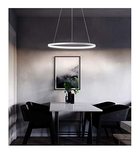 Wwbox camera da letto del candeliere soggiorno in bianco e nero a due colori lampada da soffitto circolare, studio scrivania soggiorno divano illuminazione (colore : bianca)