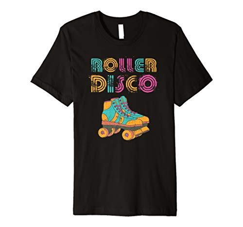 Roller Disco Distressed 70er und 80er T-Shirt