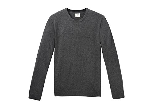 Lee Crew Knit - Pull - Manches Longues - Homme Dark Grey Mele