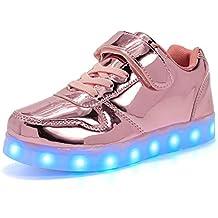 Licy Life-UK Unisex Bambini Ragazzi Ragazze Scarpe Sneakers LED  Lampeggiante USB Ricaricabile 7 Colori 7ea21baa18b