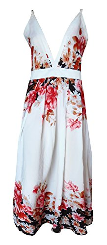 Sunrose White printed partywear long dress