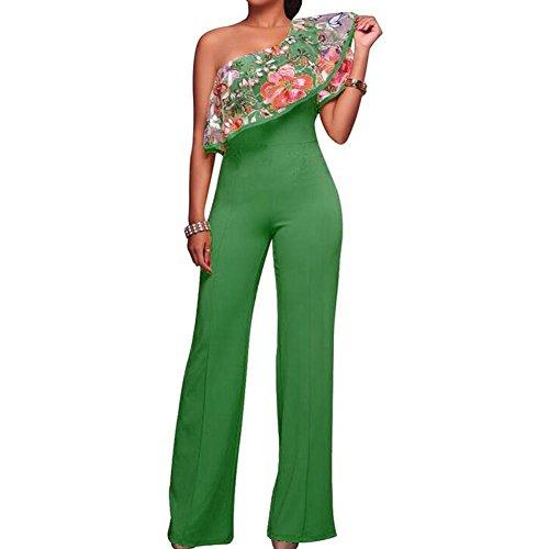 GWCSS Das Wort Kragen Lotus Blatt Stickerei Lose Stück Hose Lange Kleid , L