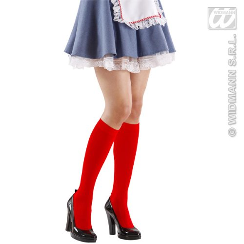 Under the Knee Socks Red Accessory for Lingerie Fancy Dress
