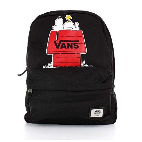 Vans Peanuts Realm Backpack Zaino Casual, 42 Cm, 22 Liters, Nero (Black)