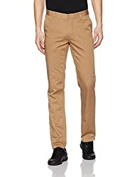 John Players Mens Casual Trousers (8907482018269_JCMWTRF017036_34W x 36L_Beige)