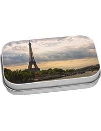 1eeb095ba8ee Azeeda 80mm x 50mm  Torre Eiffel  Caja de Almacenamiento   Lata de Metal (
