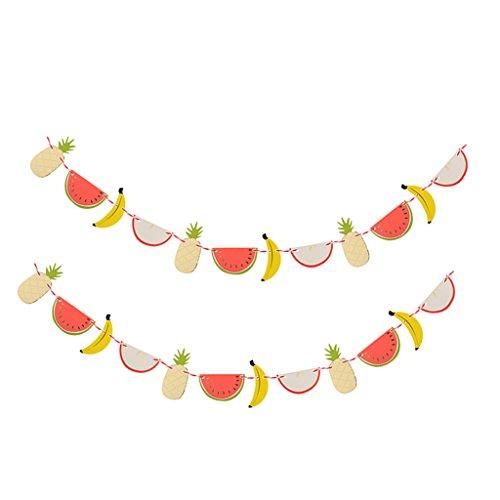 ff Wimpel Girlande Süße Bunting Wimpelkette Geburtstag Hawaiian Party Tropical Dekoration - Obst (Fallen Klassenzimmer Dekorationen)