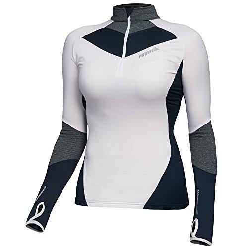 Rottefella Damen Dynamic POWERWOOL 1/2 Zip Baselayer Langarmshirt Brilliant White S