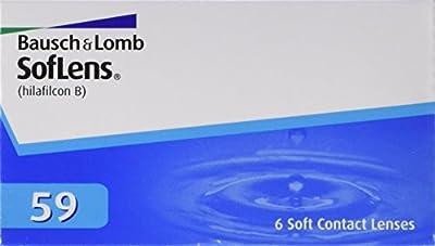 Soflens 59  - Lentes de contacto esféricas mensuales (R 8.6 / D 14.2 / -4 Diop), Pack de 6 uds.