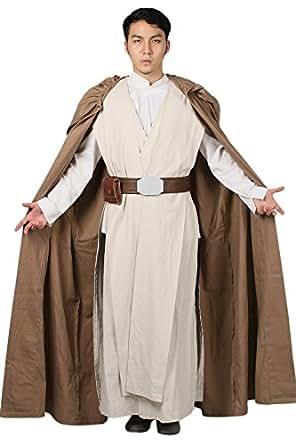 Xcoser Déguisement Cosplay Costume Deluxe Homme Vêtement Tenue Skywalker Suit Robe Cloak pour Adulte Halloween Accessoires