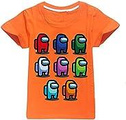 JDSWAN Unisex Niños Camiseta de Verano Impresión de Patrones Camiseta de Manga Corta Ropa Deportiva Casual Top
