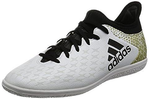 adidas Unisex-Kinder X 16.3 in J Fußballschuhe, Weiß (Ftwr White/Core Black/Gold Metallic), 30 EU