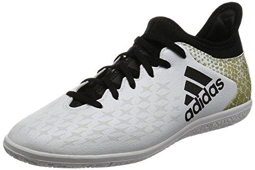 adidas Unisex-Kinder X 16.3 in J Fußballschuhe, Weiß (Ftwr White/Core Black/Gold Metallic), 30 EU Indoor-fußball-schuhe Größe 4 Mädchen