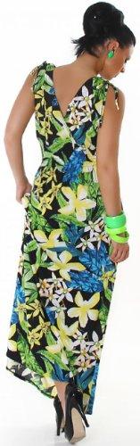 Jela london 110067 bretelles extra-longue-avec motifs de fleurs taille unique (34–38) Jaune - Jaune