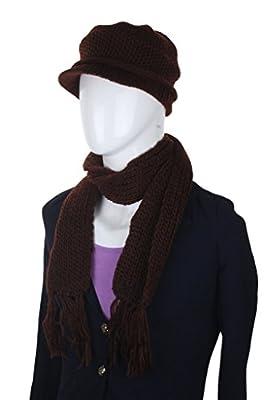 ELLIS Woolen Cap and Muffler Combo for Women