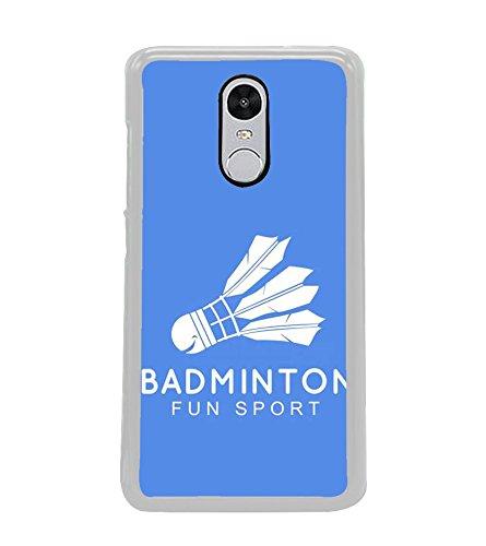 Printvisa Badminton Shuttle Cock Fun Sports Designer Printed Hard Back Case for Xiaomi Redmi Note 4
