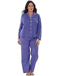 fb47852bfdfc by Karen Neuburger Ladies Stunning Printed Fleece Pyjama Set Womens PJ s  Winter Warm Nightwea