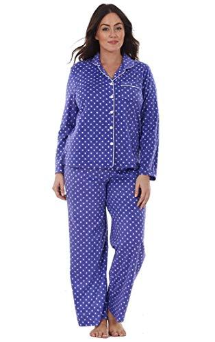 Conjunto de Pijama para Mujer - Forro Polar - Estampado - Lunares Morado - S - EU 34/36