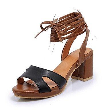 Sandales femmes chaussures printemps été Club Nouveauté Confort supports personnalisés de similicuir Office & plein air décontracté Talon Robe de carrière Black