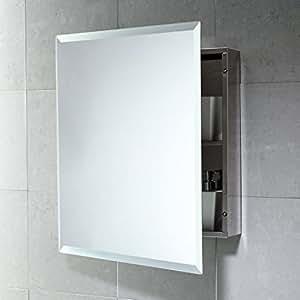 Kvstore armadietto specchio contenitore bagno e medicinali primo soccorso quadrato acciaio - Specchio bagno amazon ...