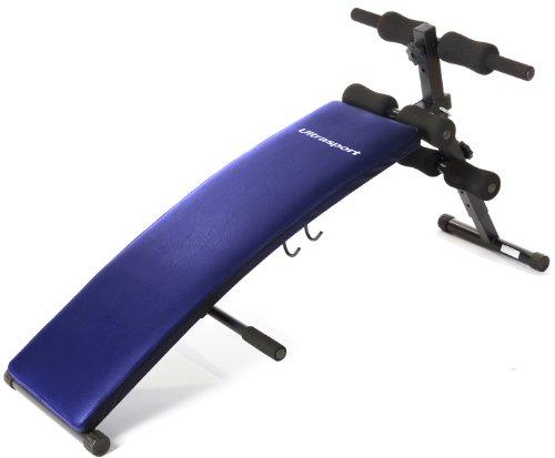 Ultrasport Sit Up Bank – Bauchtrainer / Platzsparend zusammenklappbar