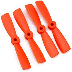 "MadrridGadgetStore® Pack Set 4X Helices Bipala DAL DALPROP 4045BN 4"" 4045 (CW/CCW) Bullnose para Drone FPV Mini Quad Color Naranja MultiCopter Carreras Racing"