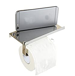 Generic Stainless steel 304 bathroom paper phone holder with shelf bathroom Mobile phones towel rack toilet paper holder tissue boxes