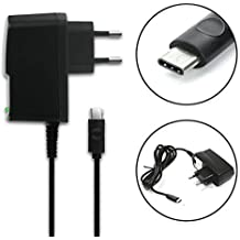 subtel® Cargador - (2A) para Xiaomi Mi 5 / 5s / Mi Mix / Mi Note 2 / Redmi Pro - USB-C (2A) (5V / ) Cable de carga negro