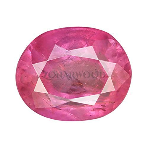Zonarwood® Super Quality Burma Ruby Stone 6.25 Ratti 5.75 Carat with Lab Tested Certified untreated Unheated Natural Manik Gemstone manikya for Women and Men