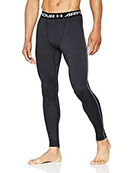Under Armour Coldgear Compression Leggings Men Black-white - Xl