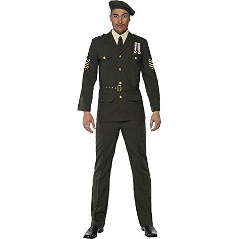 Smiffy's - Disfraz de oficial militar para hombre, talla L (35334L)