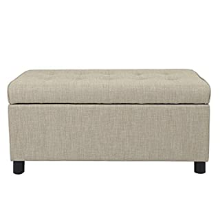 Adeco Ottomans & Storage Ottomans, Beige, Fabric, Sturdy Design