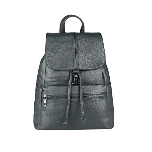 DAMEN RUCKSACK BACKPACK Cityrucksack Schultertasche Stadtrucksack TASCHE Schultertasche Organizer Tablet Nexus Ipad (Dunkelgrau 32x35x15 cm) (Rv-geldbörse Collection)