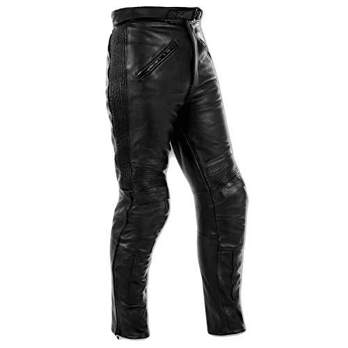 Pantaloni Pelle Moto Sport Touring Custom Protezioni Omologate CE Man 32