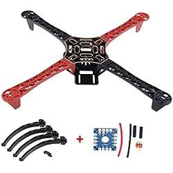 Laurelmartina F450 450 Drone Arm Frame Wheelbase con Landing Wheel Leg 12V Kit de Tablero eléctrico para RC 4-Axis RC Multicopter Quadcopter