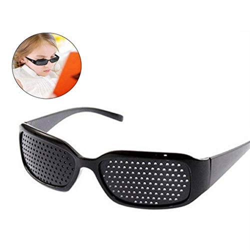 ZENGZHIJIE Lochbrillen for Kinder, Sehkorrekturbrillen Retikuläre Sehkraftschutzbrillen Anti-Ermüdungs-Brillen Vorbeugung der Sehkraftnähe