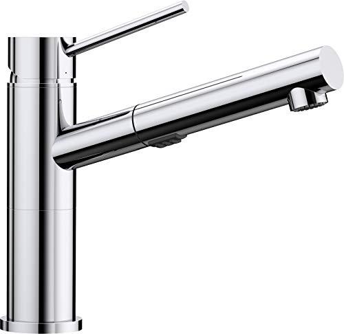 Alte Hahn (Blanco Alta-S Compact Vario Umschaltbare Küchenarmatur / Kompakter Einhebelmischer in Chrom mit ausziehbarer Schlauchbrause / Hochdruck)
