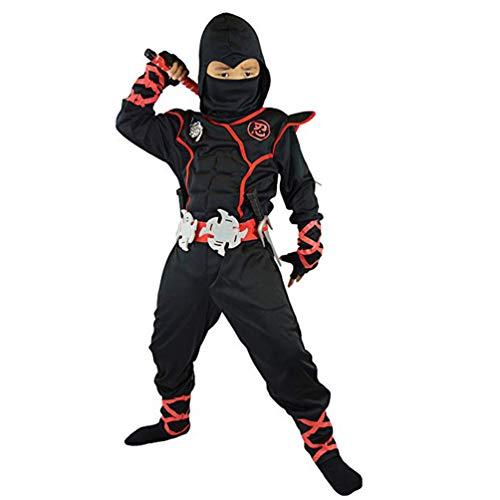 Gesteam Ninja Turtle Kostüm Kinder Deluxe Ninja Outfit Kostüm Ninja Warrior Kostüm Kinder Ninja Kostüm Halloween Cosplay Kleidung Kinderkostüm, Ages 4-6 Years, (Kleinkind Junge Ninja Turtle Kostüm)