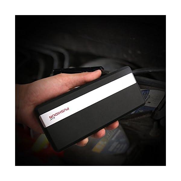 Arrancador de Coche 14000mAh 800A Jump Starter de con 2 USB y Cable Inteligente