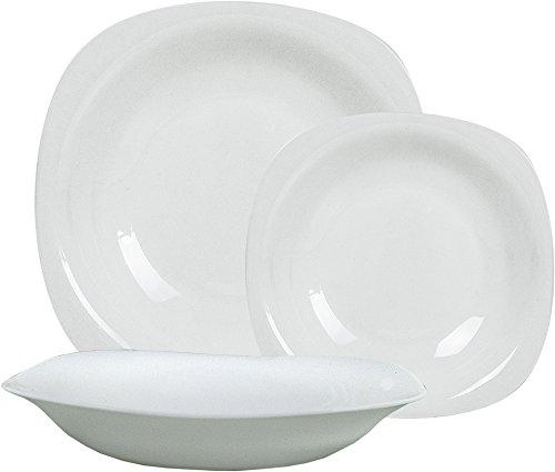 Bormioli - Servizio piatti 'Parma' x 6 persone, Bianco