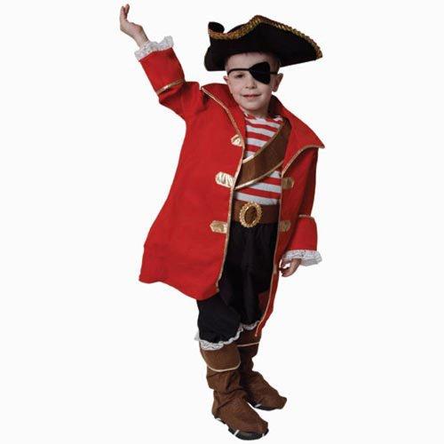 Deluxe Kostüm Jungen Pirat - Dress Up America Deluxe Piratenkapitän Kinderkostüm