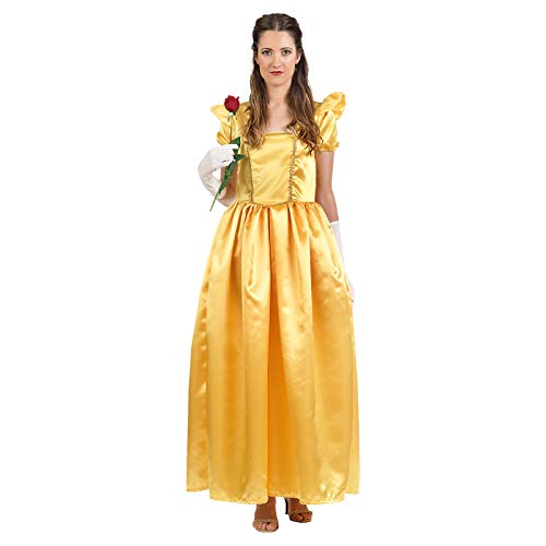 Die Schöne und das Biest Belle Damen Kostüm Kleid für Disney Fans gelb - (Belle Und Das Biest Kostüme)