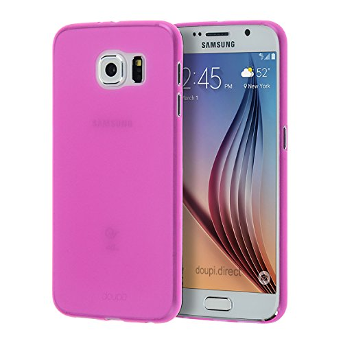 doupi UltraSlim Case für Samsung Galaxy S6 ( flach ) FeinMatt FederLeicht Hülle Bumper Cover Schutz Tasche Schale Hardcase, pink