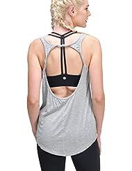 Queenie Ke Prime–Camiseta de tirantes para yoga, espalda descubierta