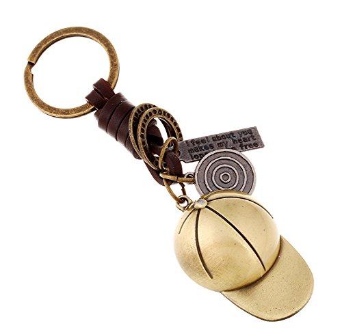 aiuin 1x Schlüsselanhänger aus Legierung Anhänger des kreativen Form des Baseball-Cap für Schlüsselanhänger Geschenk Stricken Anhänger Schlüsselanhänger Kette Zubehör Dekoration