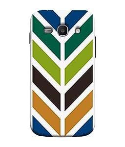 PrintVisa Designer Back Case Cover for Samsung Galaxy Ace 3 :: Samsung Galaxy Ace 3 S7272 Duos :: Samsung Galaxy Ace 3 3G S7270 :: Samsung Galaxy Ace 3 Lte S7275 (Zigjag Colourful Design Strip Zebra Crossing )