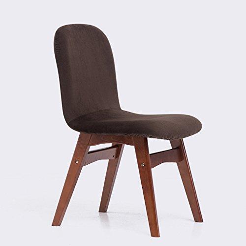 Wanli shopping mall sedia da ufficio confortevole in tessuto in legno massello sedia da pranzo confortevole per il tempo libero (colore : d)