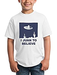 I Juan To Believe Mexican Aliens Design Funny Kids Unisex T-shirt Ages 5-13
